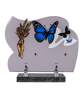 Plaque Altuglass Bronze et Papillons